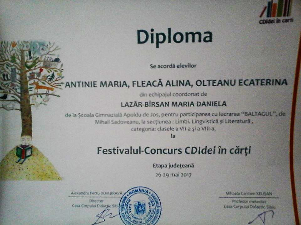 Diploma APOLD CDIdei
